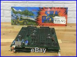 1988 Tecmo Silkworm Jamma Arcade Circuit Board Marquee & PCB, Working
