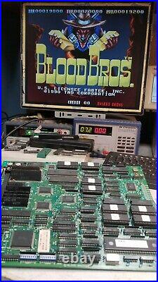 Blood Brothers Tad Corporation Jamma Arcade Game Circuit Board Working Pcb