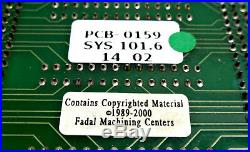 Fadal 1400-5c Circuit Board With Pcb-0159 & Pcb-0042 Circuit Boards