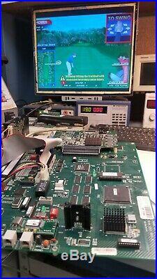 Golden Tee Complete 2006 Jamma Arcade Green Circuit Board & Hard Drive Pcb #504
