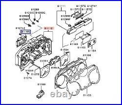 Instrument Cluster Printed Circuit Board MR532791 For Mitsubishi Pajero Montero