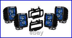 Rigid Radiance Pod Blue & Fog Light Kit For 10-15 Ram 2500/3500 09-12 Ram 1500