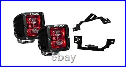 Rigid Radiance Pod Red 20202 & Fog Light Kit For 2003-2009 Ram 2500/3500